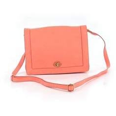 Pre-owned J. Crew Crossbody Bag: Coral Women's Bags ($25) ❤ liked on Polyvore featuring bags, handbags, shoulder bags, coral, red hand bags, red handbags, red shoulder bag, crossbody purse and shoulder handbags