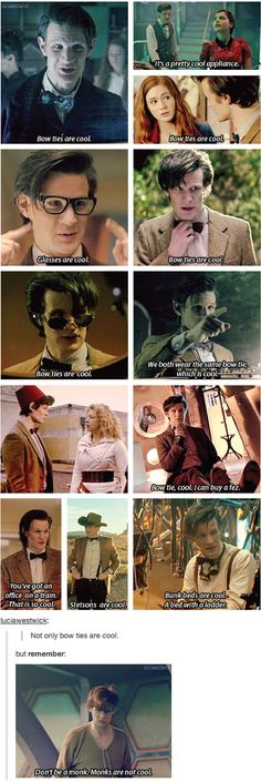 Just realize Matt Smith doesn't have eyebrows! Ha what do you know.<You just notice that seriously<<----Everybody knows that!