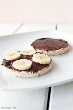 Reiswaffeln mit Nutella und Banane