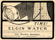 "1901 Elgin National Watch Company Ad for ""Ruby Jewel Pocket Watches"""