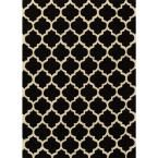 Geo Black 3 ft. 6 in. x 5 ft. 6 in. Indoor Area Rug