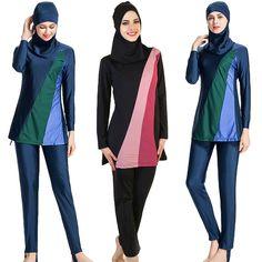 7840097e611e0 (Advertisement)eBay- 2019 Muslim Swimwear Modesty Swimsuit Women Full Cover Islamic  Burkini Beach Set