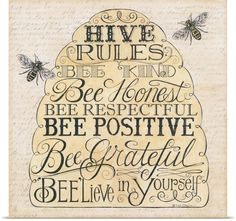 Deb Strain Poster Print Wall Art Print entitled Hive Rules, None