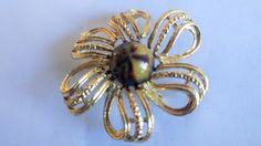 Vintage Gerry's Brooch / Pin /  3D Brooch / Pin / Floral Brooch / Pin / Designer Brooch / Pin / Gold Brooch / pin by TamJewelryandUniques on Etsy