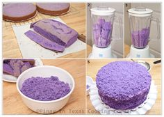 Pinay In Texas Cooking Corner: Ube Macapuno Cake for Clarise's Birthday Ube Chiffon Cake Recipe, Ube Roll Cake Recipe, Ube Macapuno Cake Recipe, Pinoy Dessert, Filipino Desserts, Filipino Recipes, Filipino Food, Filipino Dishes, Pinoy Recipe