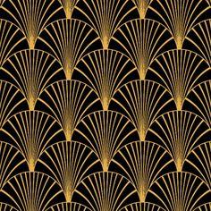 Art Deco Black & Gold - Floor & Wall Vinyl / 3 metre x 60cm / Landscape