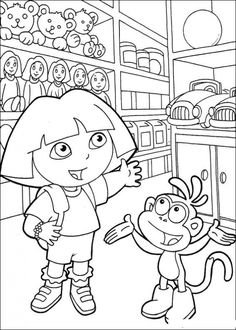 Free Dora The Explorer Coloring Pages Printable Online
