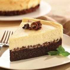 Easy Brownie Chocolate Chip Cheesecake from Eagle Brand® Sweetened Condensed Milk is an Easter dessert favorite.