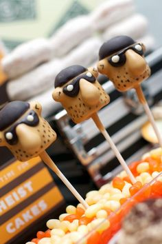 Police Party Ideas from @spaceshipslb. Cake pops by @evieandmallow   {Made by a Princess}