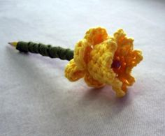 Crochet Daffodil Pencil