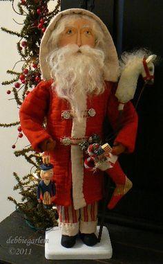 Santa - Primitive, hand made: