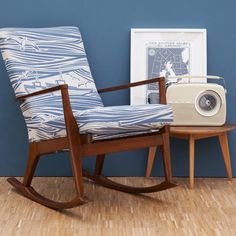 Mustard Vitnage - Vintage restored Mini Moderns 'Whitby' Parker Knoll rocking chair - Made to order