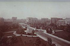 1885 Berlin - Belle-Alliance-Platz (heute Mehringplatz) von Norden.