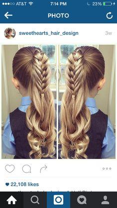 Sweetheart hair designs