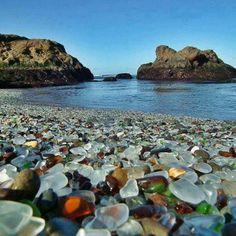 Sea glass beach, Fort Bragg, California