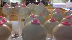 """Mardi Gras """"boobie"""" cake pops! I don't think I will be sending them to school but they are pretty funny!"""