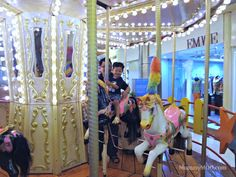 """[Photo ♥ Friday]: """"You don't really understand human nature unless you know why a child on a merry-go-round will wave at his parents every time around - and why his parents will always wave back.""""    - William D. Tammeus    http://www.mummymoo.com/2012/12/photo-heart-friday-merry-go-round.html"""