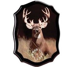Wall Clock Deer Hunting Cabin Decor Buck Man Cave Hunter Country Western  $25.50  at Critter Creek Ranch!