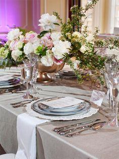Silver Shantung Table Linen2