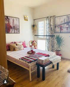 Indian Room Decor, Ethnic Home Decor, Indian Home Design, Indian Home Interior, Home Room Design, Home Interior Design, Home Decor Furniture, Home Decor Bedroom, Small Room Decor