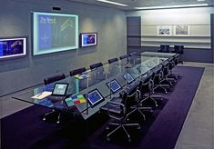 How to Create an Amazing Conference Room Design - SmallBizDaily Office Table Design, Office Space Design, Modern Office Design, Office Interior Design, Office Interiors, Office Decor, Conference Room Design, Conference Table, Spaceship Interior