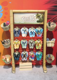 Sharn Enterprises, Inc   Five Flops Bamboo POP Display   Flip-flops   POS   POP   Point of Purchase   Footwear   Sandals   Summer   Store Fixture
