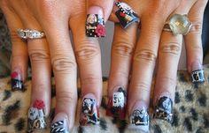 Diseños de uñas Marilyn Monroe, diseño de uñas marilyn actriz. Clic Follow, Únete al CLUB, síguenos! #diseñodeuñas #decoratednails #uñasbonitas
