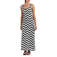 4f64095ba19 Faded Glory Women s Chevron Racerback Maxi Dress Plus Size Chevron