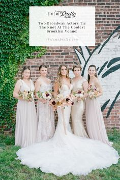 Two broadway actors tied the knot at the coolest Brooklyn venue and we couldn't be more excited to share the details today on SMP! LBB Photography: @rebeccayale #brooklynwedding #brooklynbride #newyorkwedding #urbanwedding #bridesmaids Bridesmaid Dress Styles, Bridesmaids, Wedding Dresses, New York Wedding, Tie The Knots, Your Girl, Brooklyn, Style Me, Broadway