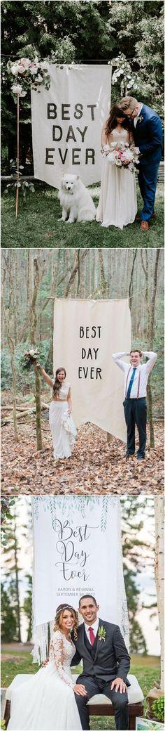 Best day ever ceremony banner #weddingideas #weddingarches #weddingdecor #bohemiaweddings #weddinginspiration