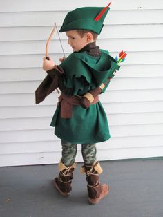 DIY Handmade kids Robin Hood and Friar Tuck Halloween costumes