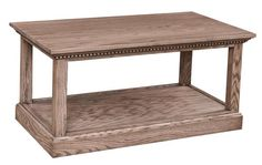 Amish Grand Manor Coffee Table Gorgeous solid wood accent table shown here in oak wood. Notice the prominent grain pattern oak offers. Comes in choice of wood and finish. Ships fully assembled. #DutchCrafters