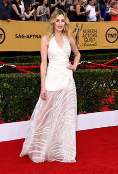 Laura Carmichael in Vionnet #SAGAwards