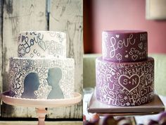 kind of what I'm planning for my cake but with a ribbon and cute cake topper, it will be kind of the unexpected twist   with everything else looking so vintage shabby chic