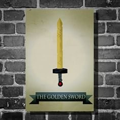 Adventure Time Golden Sword Print on the redditgifts Marketplace #redditgifts
