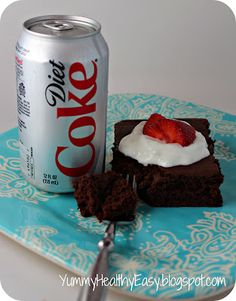 24 cupcakes - Devil's food cake mix with diet coke only (no eggs - no oil nothing) and cool whip on top!