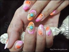 nail art /bijou /Turquoise