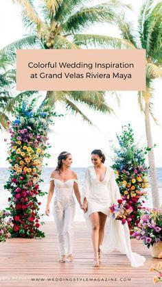 Romantic Wedding Decor, Luxury Wedding, Unique Weddings, Lesbian Wedding, Wedding Bride, Wedding Gowns, Grand Velas Riviera Maya, Mexico Destinations, Best Bride