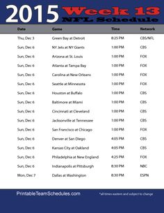 21 Best Nfl Football Schedules Images Nfl Football Schedule Hs