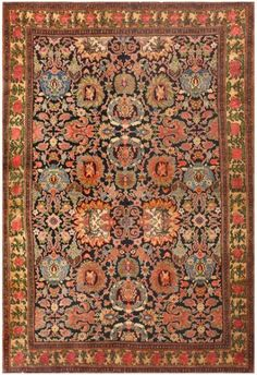 Antique Persian Malayer Rug 48244 by Nazmiyal Collection Antique Persian Malayer Rug 48244 Main Image - By Nazmiyal Persian Carpet, Persian Rug, Iranian Rugs, Iranian Art, Main Image, Carpet Trends, Cheap Carpet Runners, Carpet Colors, Floor Rugs