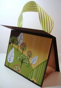 gift purse made from paper bag scrapbooking diy card