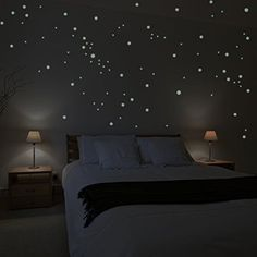 Wandkings wall stickers 250 x fluorescent dots for a starry sky Fluorescent and glow-in-the-dark * Be sure to check out this awesome product.