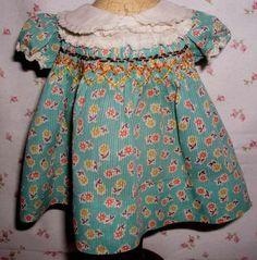 Vintage doll dress 1920's