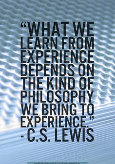 experience is not self-interprating! neither is experience necessarily a good thing to have depending on the experience