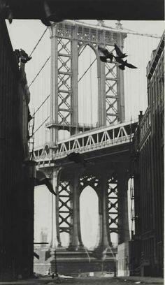 Manhattan Bridge, 1937 by André Kertész