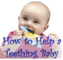Lots of ways to help a teething baby... probably going to need all of these