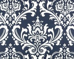 Wedding Fabric Premier Prints Ozborne Navy by ModernalityFabrics
