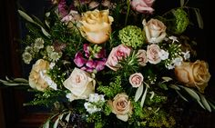 Scarlet and Violet | London - Vic Brotherson creates beautifully wild and vivid bouquets of British peonies, garden roses, hollyhocks, frilly sweet peas, and delphiniums.