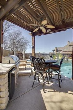 Spacious covered outdoor living area that has everything you need | Flat for Sale | Willow Ridge- Prosper ISD