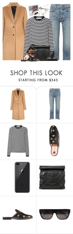 """Cappuccino Couple"" by hollowpoint-smile ❤ liked on Polyvore featuring Joseph, GRLFRND, MaxMara, Gucci, Simon Miller and Givenchy"